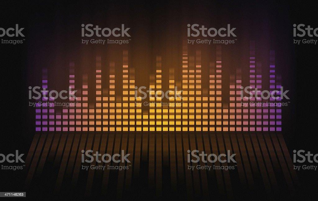 multicolored sound mixer stock photo