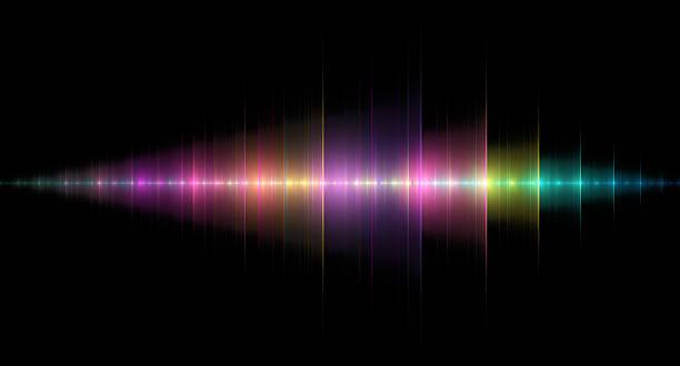 multicolored sound wave - 聲波 個照片及圖片檔