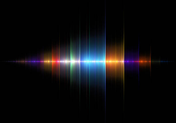 multicolored sound wave - audio wave stock photos and pictures