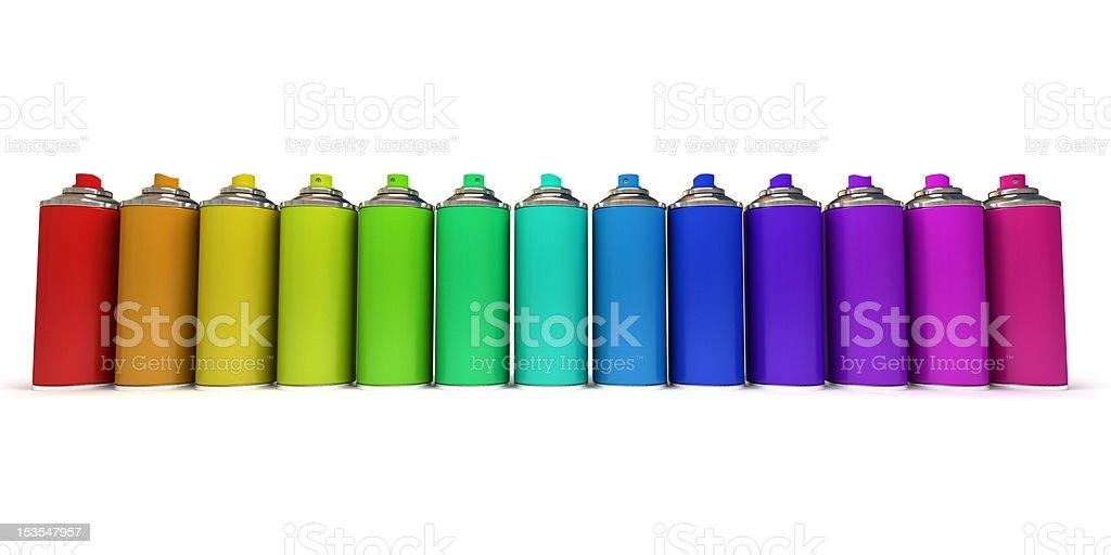 Multicolored sprays royalty-free stock photo