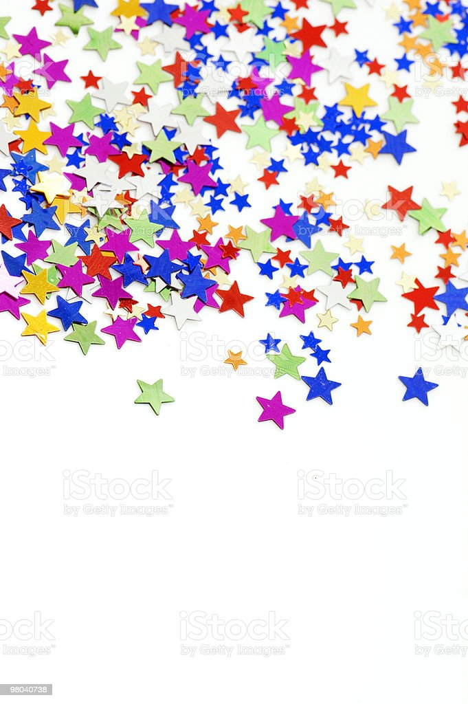 Multicolored Star Confetti royalty-free stock photo