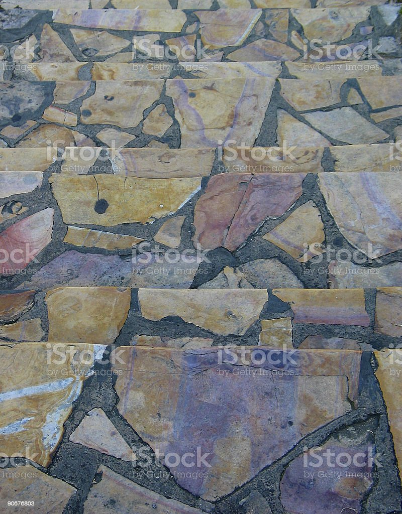 Multicolored Stone Path royalty-free stock photo