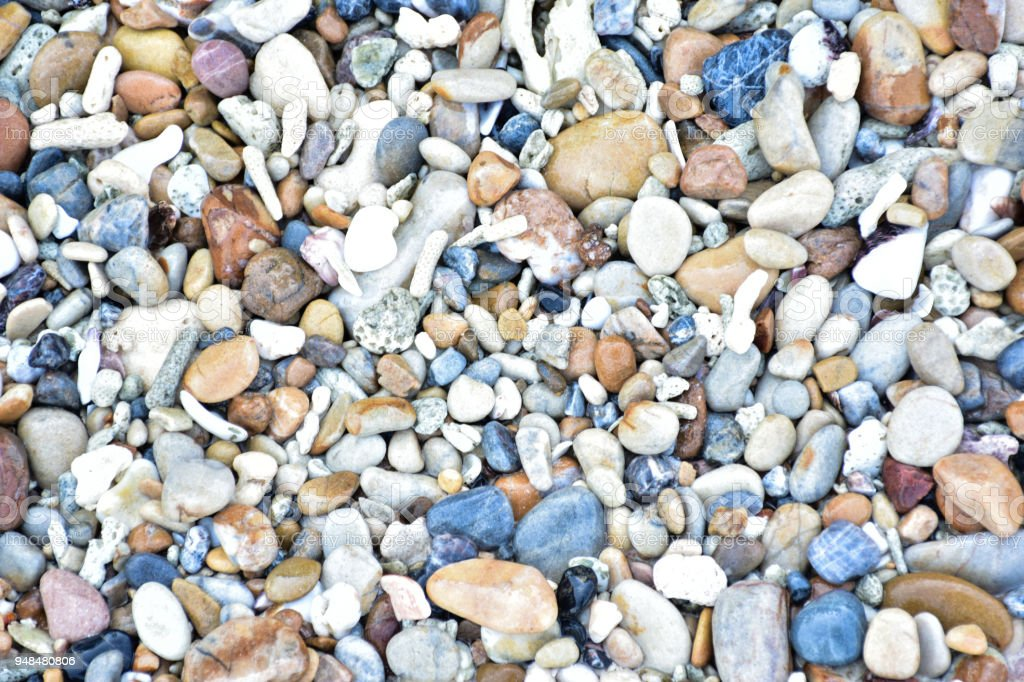Multi-colored stones stock photo