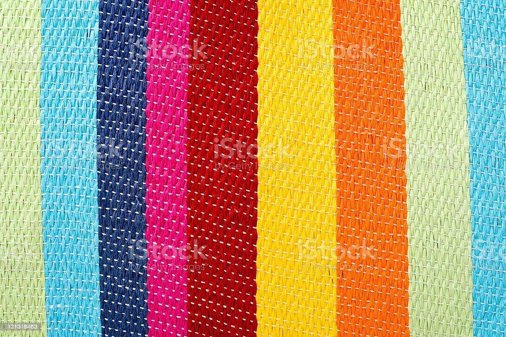 Multicolored striped canvas background, woven texture royalty-free stock photo