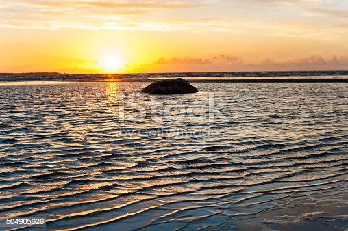 1083309578 istock photo Multicolored summertime sunset on Baltic sea. Horizontal outdoors image 504905626