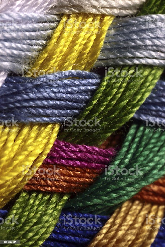 Multicolored thread stock photo