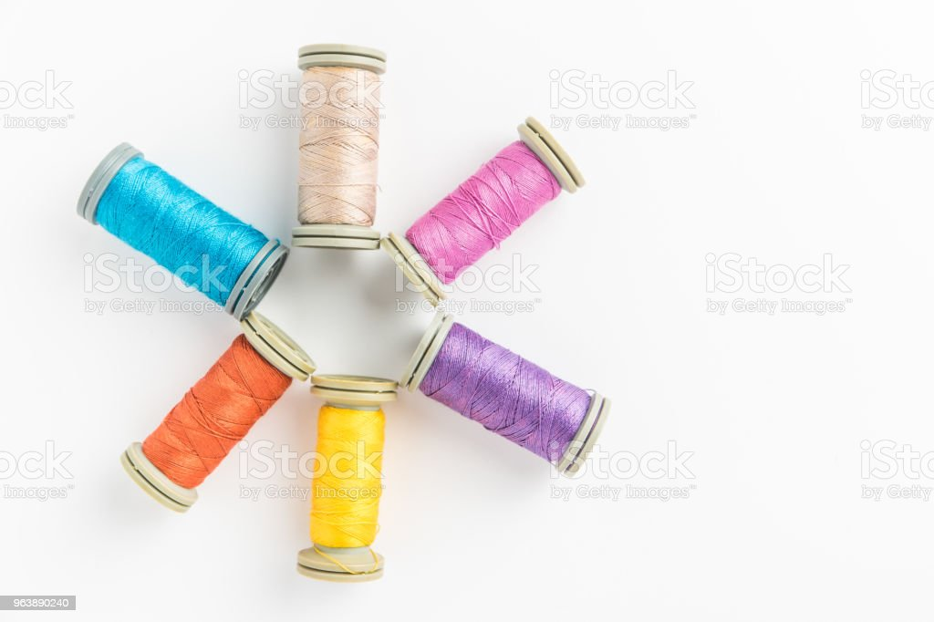 Multi-colored threads - Royalty-free Ball Of Wool Stock Photo