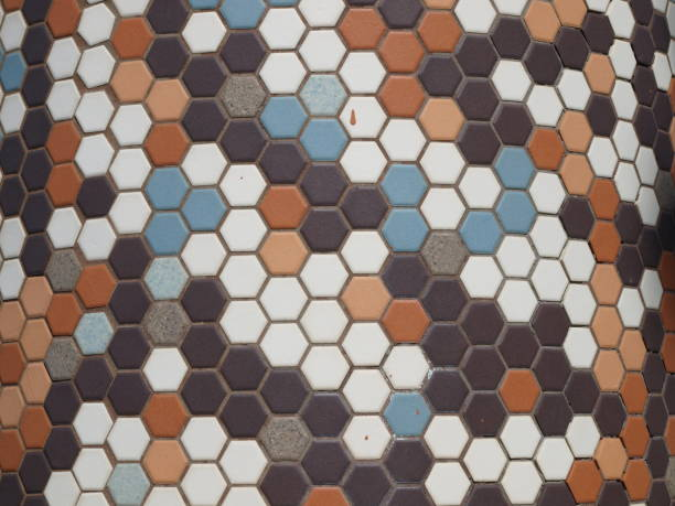 Multi-colored Tile Pattern stock photo