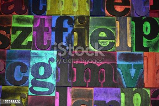 istock Multicolored typeset 157568820