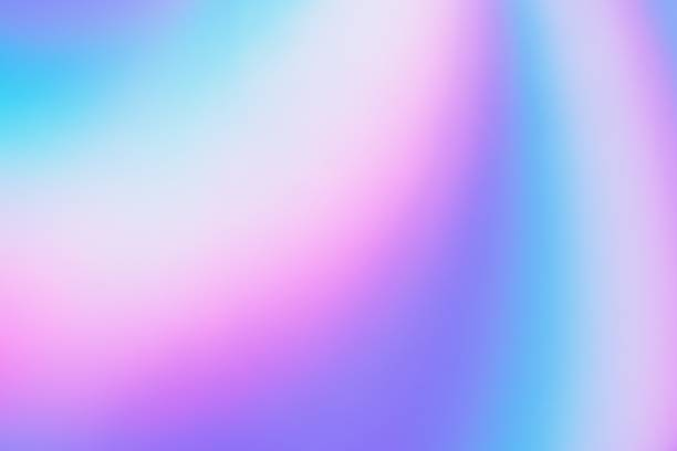 Multicolored violet-blue  gradient abstract background - hologram stock photo
