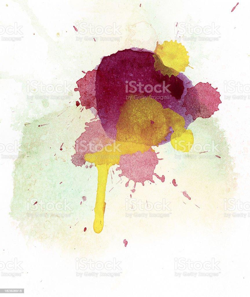 Multicolored watercolor splash royalty-free stock photo