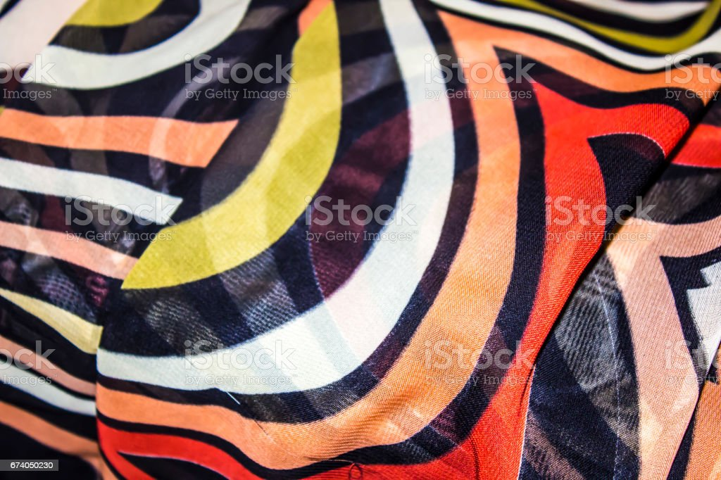 Multicolored wave fabric royalty-free stock photo