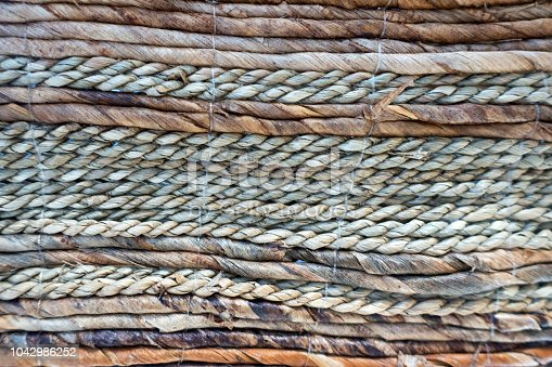 Multicolored Wicker Work Texture.