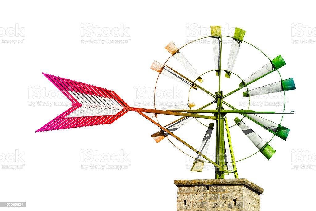 Multicolored Windmill - Landmark of Majorca stock photo