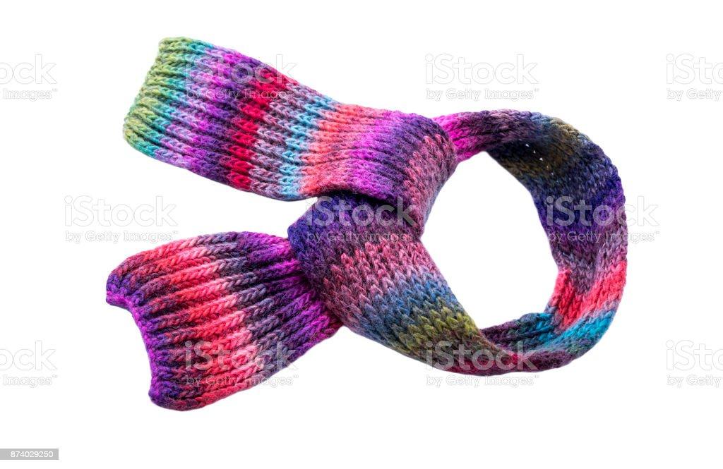 Bufanda de invierno varios colores. - foto de stock