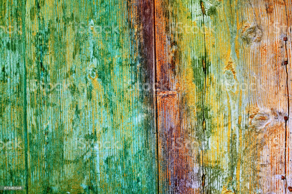 multicolored wood texture. abstract grunge wood texture. multicolored boards background stock photo