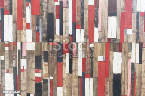Multicolored wooden background