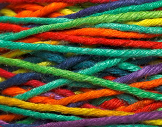 Multicolored yarn roll - foto stock