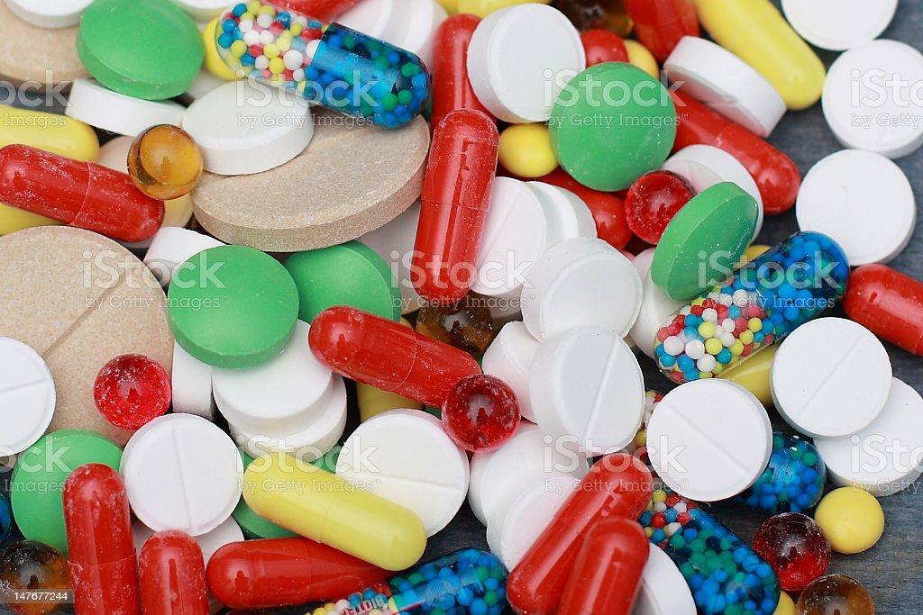 multicolors pills royalty-free stock photo