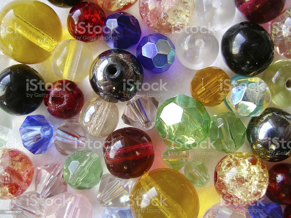 Multi-coloured beads background royalty-free stock photo
