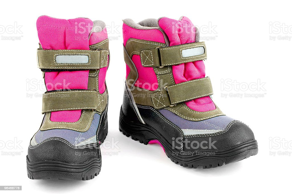 Multi-coloured boots royalty-free stock photo