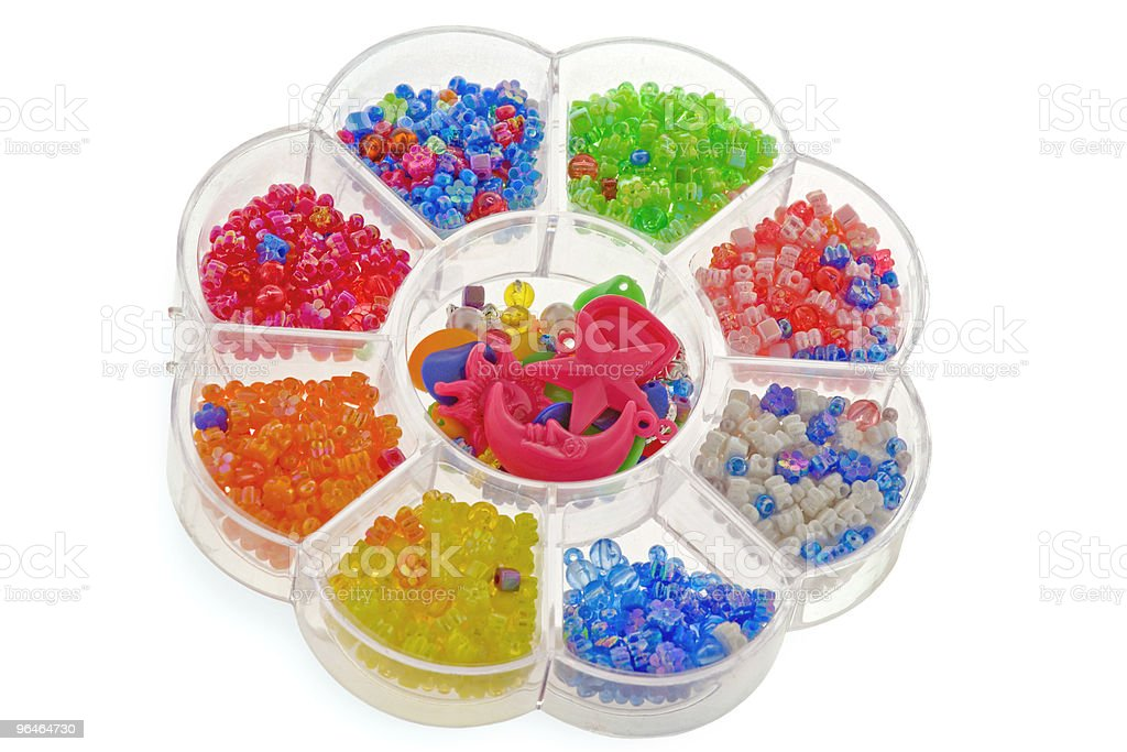 Multi-coloured glittering beads royalty-free stock photo