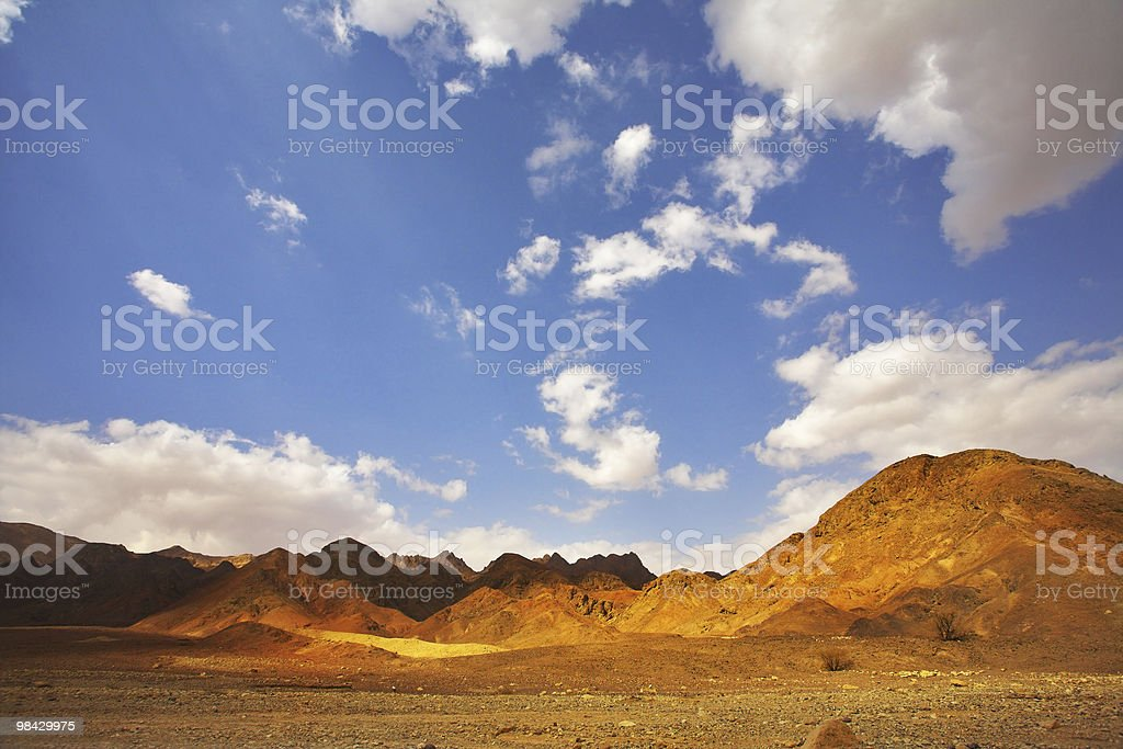 Multi-coloured hills royalty-free stock photo