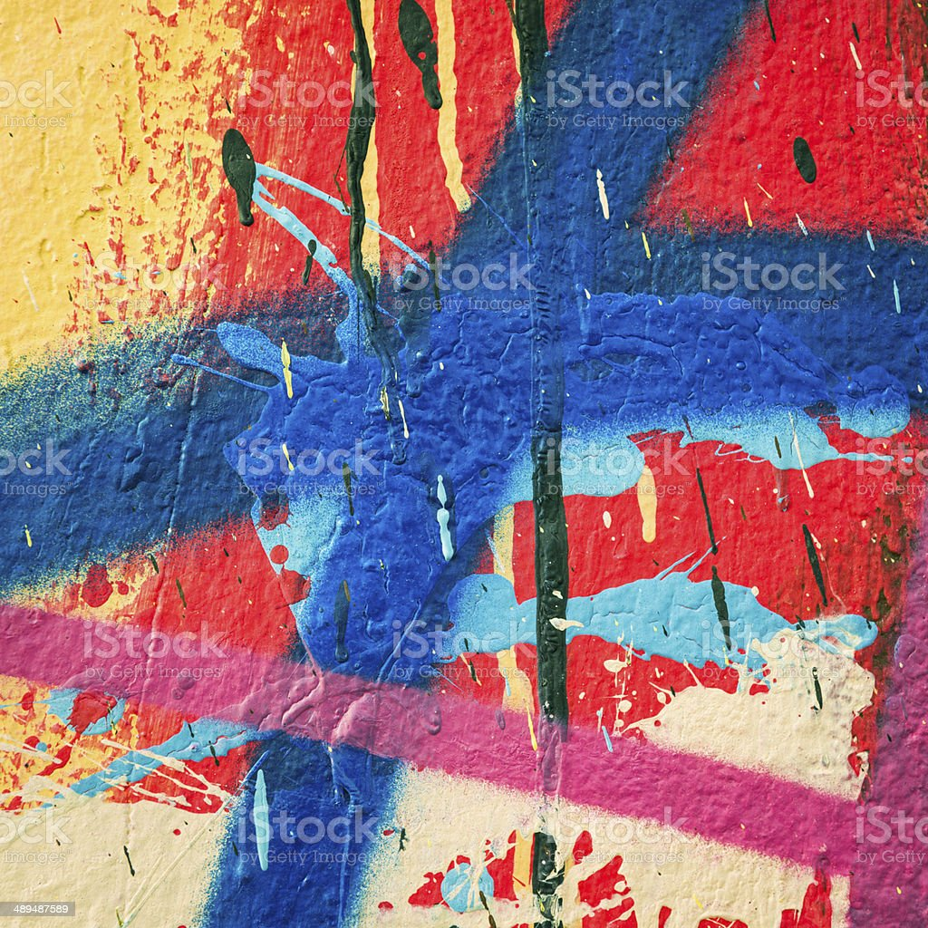 Multi-coloured paint macro stock photo