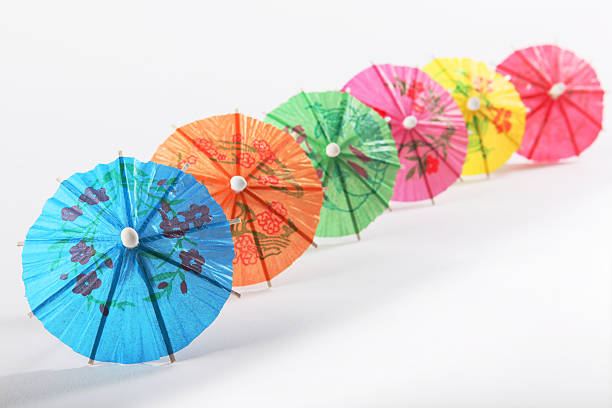 Multicoloured Paper Umbrellas Stock Photo