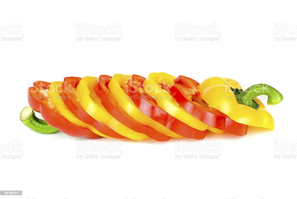 Multi-coloured pepper royalty-free stock photo