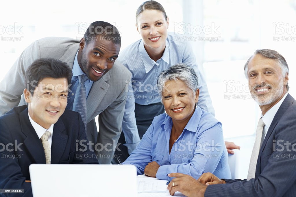 Multicultural, multi-gender and diversely aged business team stock photo