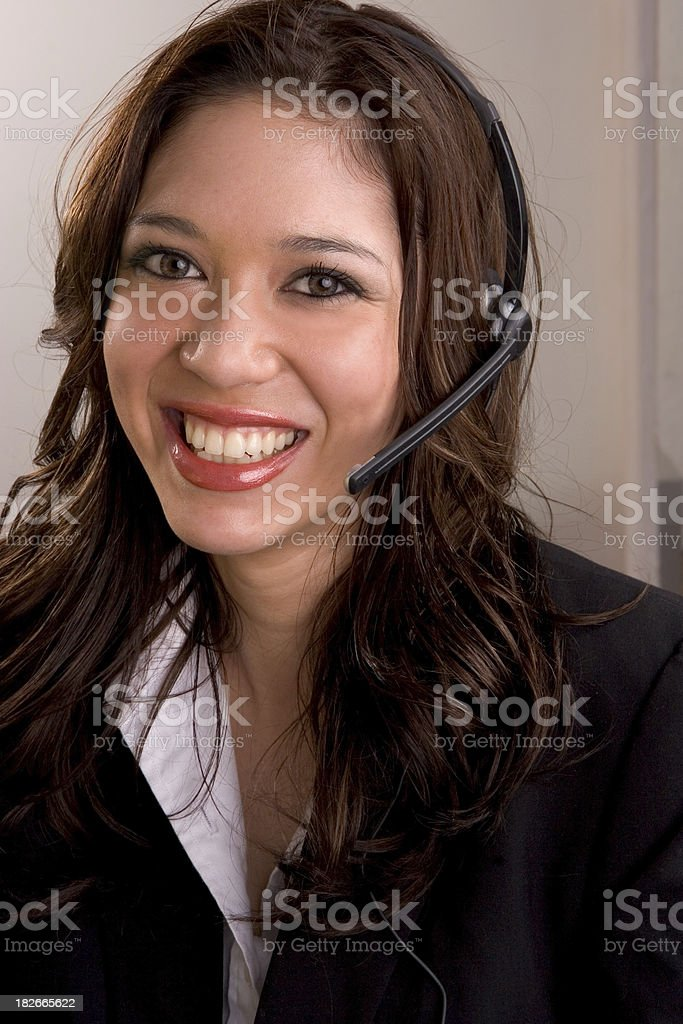 Multicultural Operator royalty-free stock photo