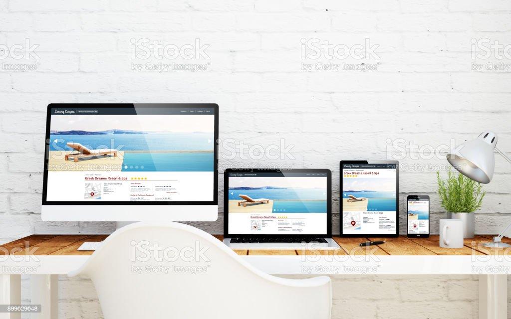 templatebasierter Desktop-Resort und Spa online – Foto