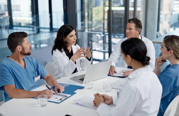 Multidisciplinary meetings make for a more thorough diagnosis stock photo