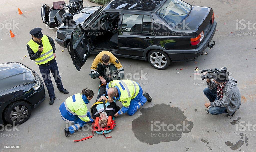 Multidisciplinary rescue team royalty-free stock photo