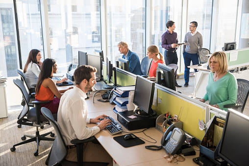 Multiethnic Business People Working Together In Office Stock Photo - Download Image Now