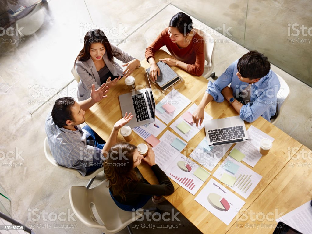 multiethnic business team meeting in office - Royalty-free Adult Stock Photo