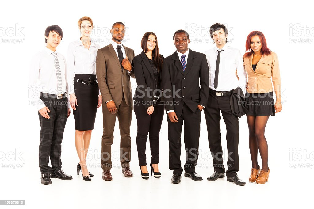 multi-ethnic business team royalty-free stock photo