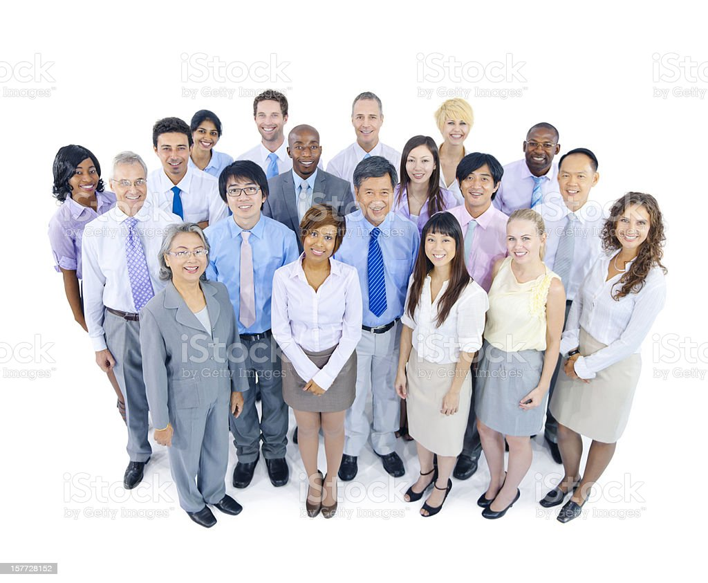 Multi-Ethnic Business Team. royalty-free stock photo