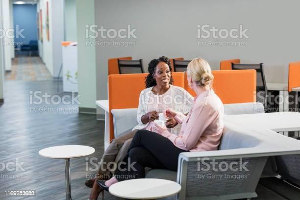 Multiethnic businesswomen taking a coffee break picture id1169253683?b=1&k=6&m=1169253683&s=612x612&h=2dllchkj zjkmqhstzbssfjaiitqpdw qixa1 4zhpo=