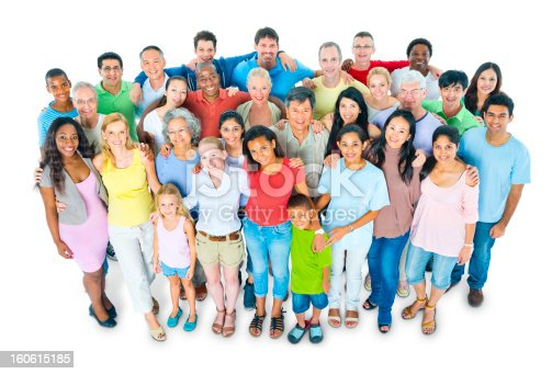671270528 istock photo Multi-ethnic casual people 160615185