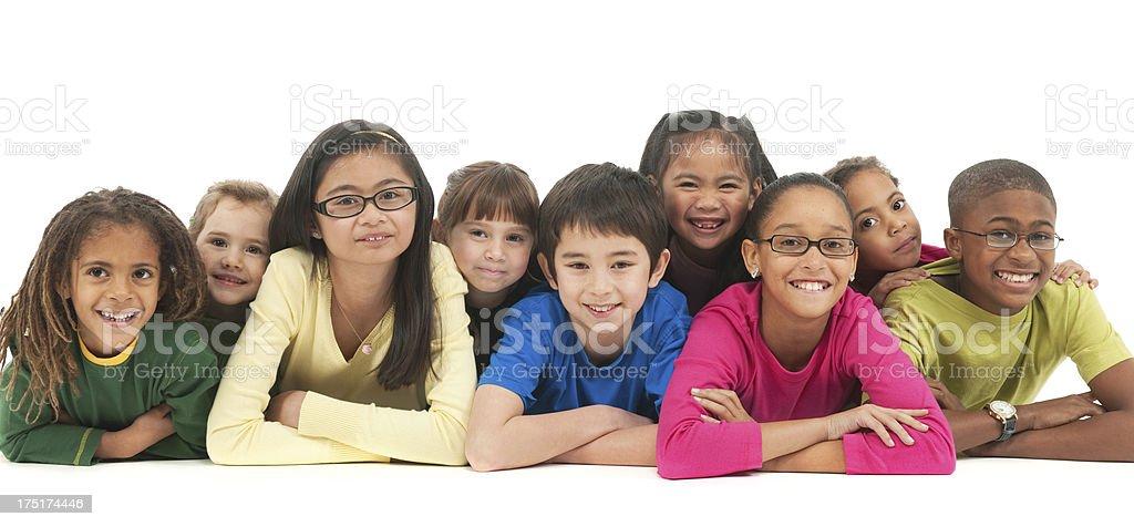 Multi-ethnic children royalty-free stock photo