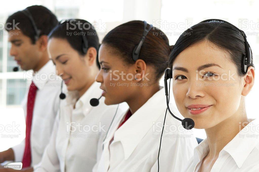 Multi-ethnic Customer service representatives royalty-free stock photo