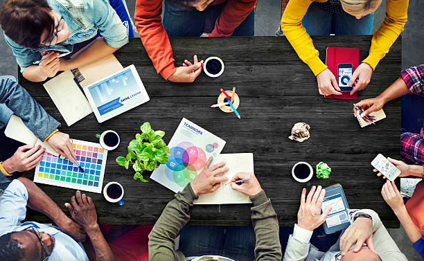 Multiethnic Designer Brainstorming Contemporary Concept stock photo