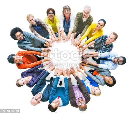 671270528 istock photo Multi-ethnic Diverse Group of People In Circle 487921819