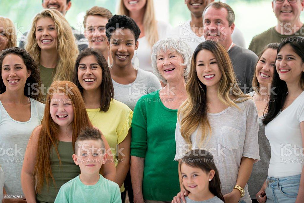 Multi-Ethnic Family Group stock photo