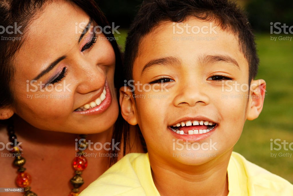 Multiethnic Family stock photo