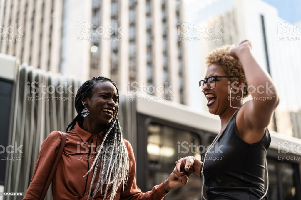 Multi-Ethnic Friends Celebrating Good News royalty-free stock photo