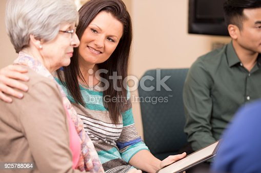 istock Multi-ethnic group counseling session, support meeting. 925788064