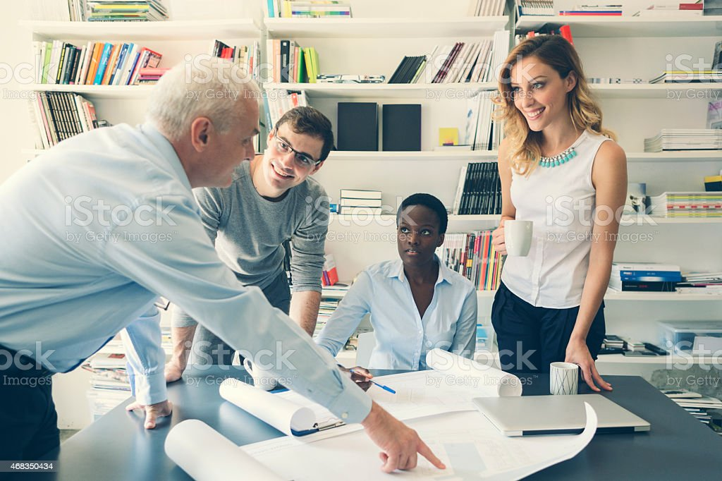 Multi-Ethnic Group of architects Have Meeting. royalty-free stock photo